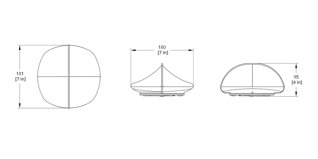 MS-1 Mori Shell Sconce Dimension