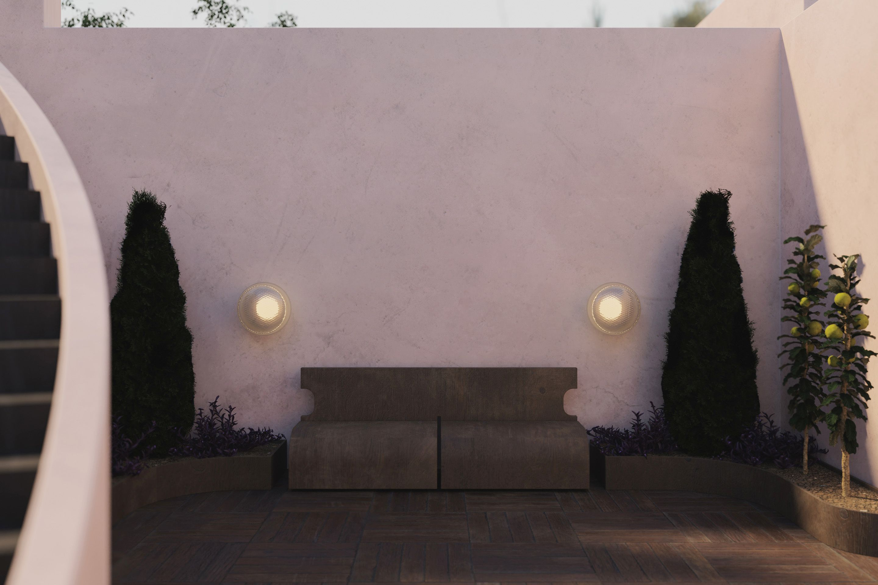 Virtual Garden — Created by Tom Hancocks. Print sconce, large globe in clear/frosted glass
