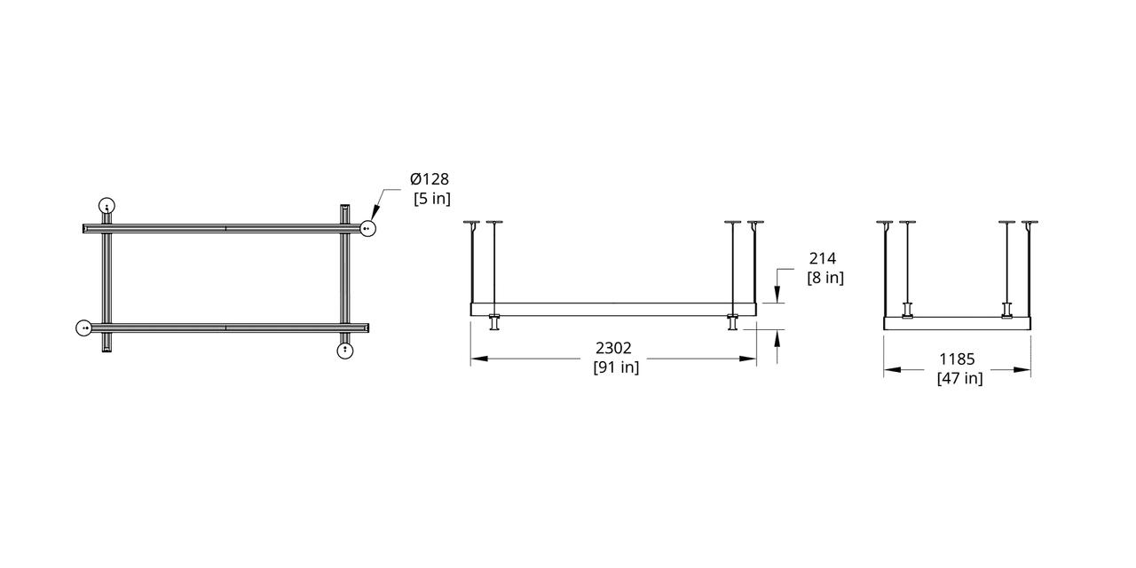 LS4-48 Latis 4'x8' Rectangle Dimension