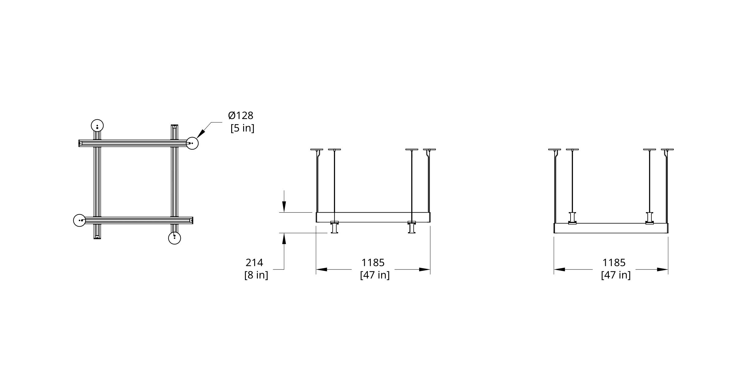 LS4-44 Latis 4' Square Dimension