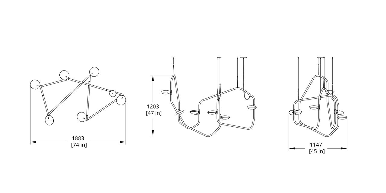 PD-6 Palindrome Chandelier (Dynamic) Dimension