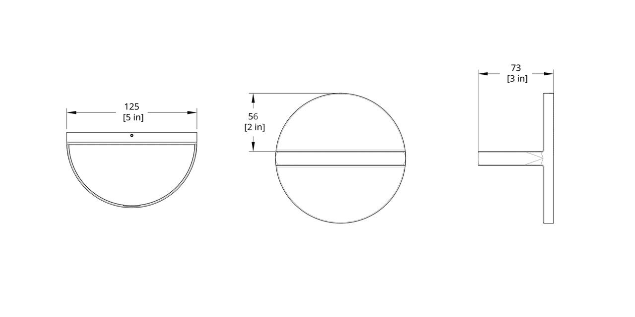 LD-R Ledge Sconce Dimension