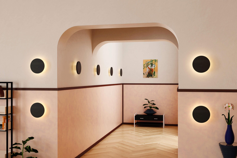 Virtual Hallway — Created by Tom Hancocks. Radient sconce, edonized oak