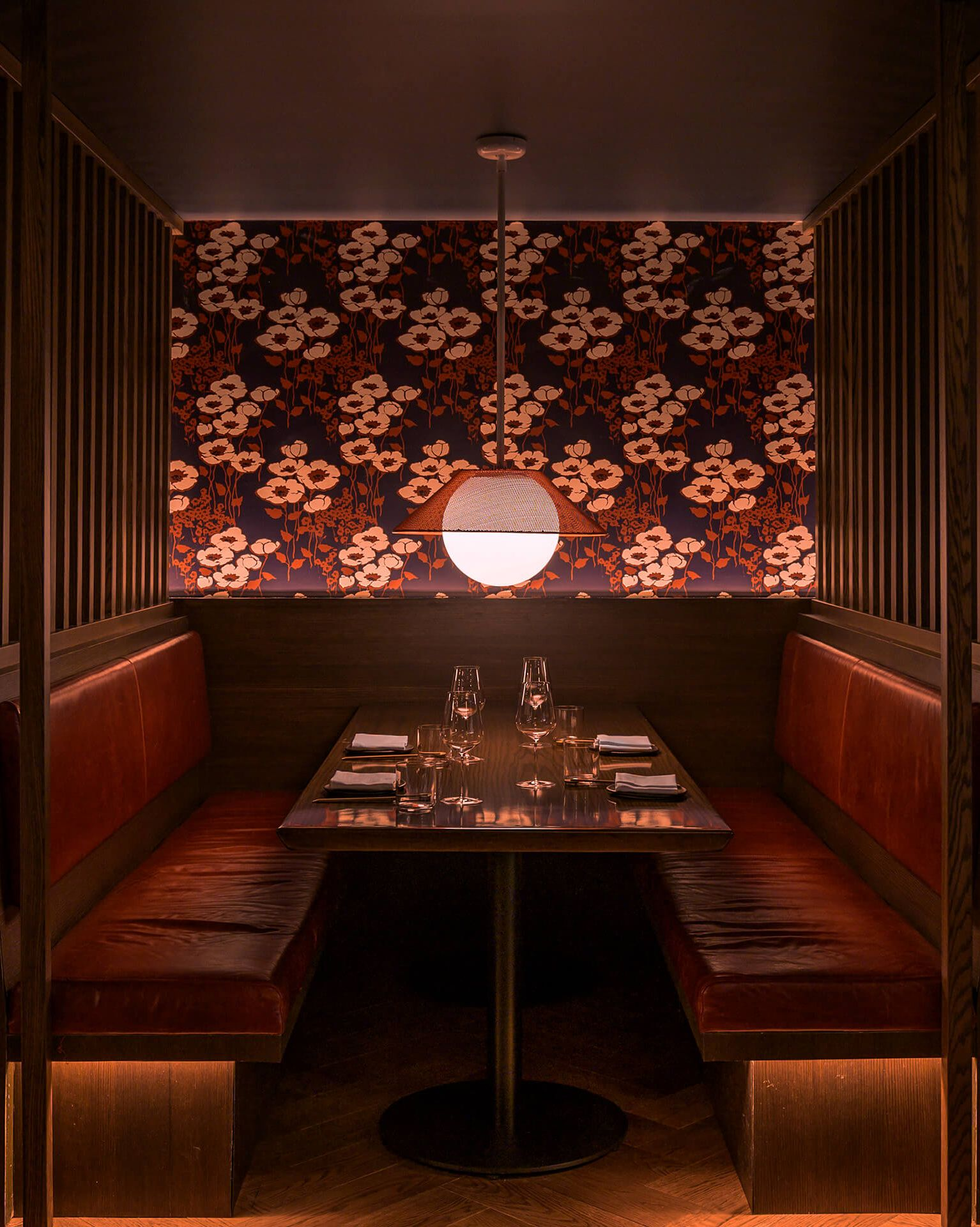 RBW Akoya Pendant in a hospitality restaurant interior design project