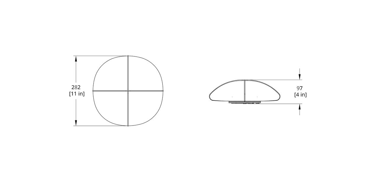 MS-3 Mori Pod Sconce Dimension