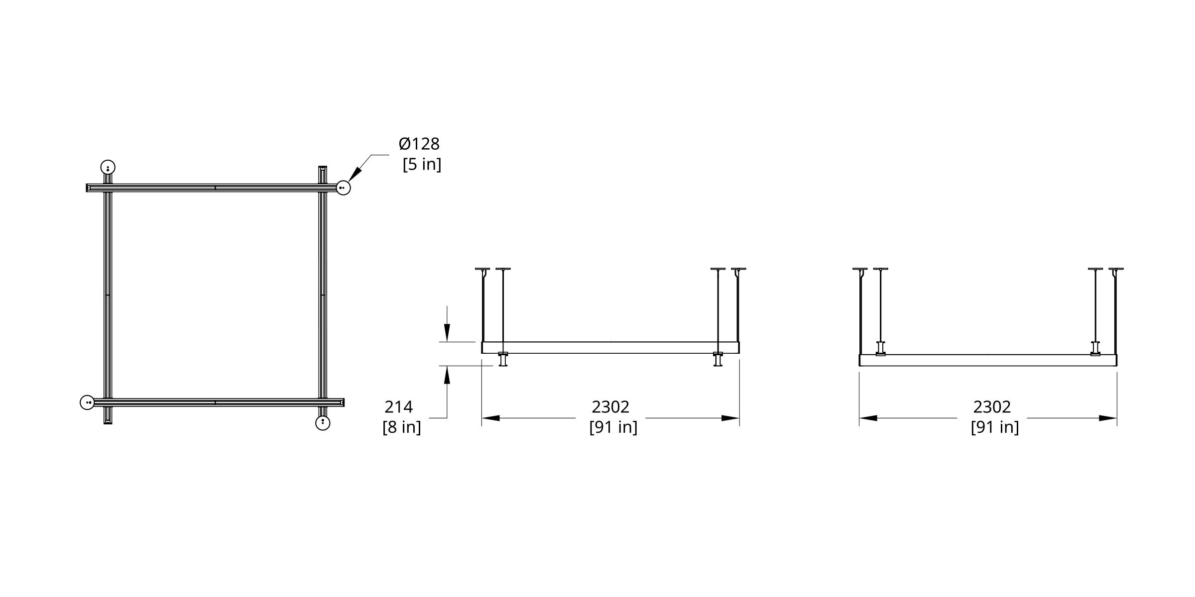 LS4-88 Latis 8' Square Dimension