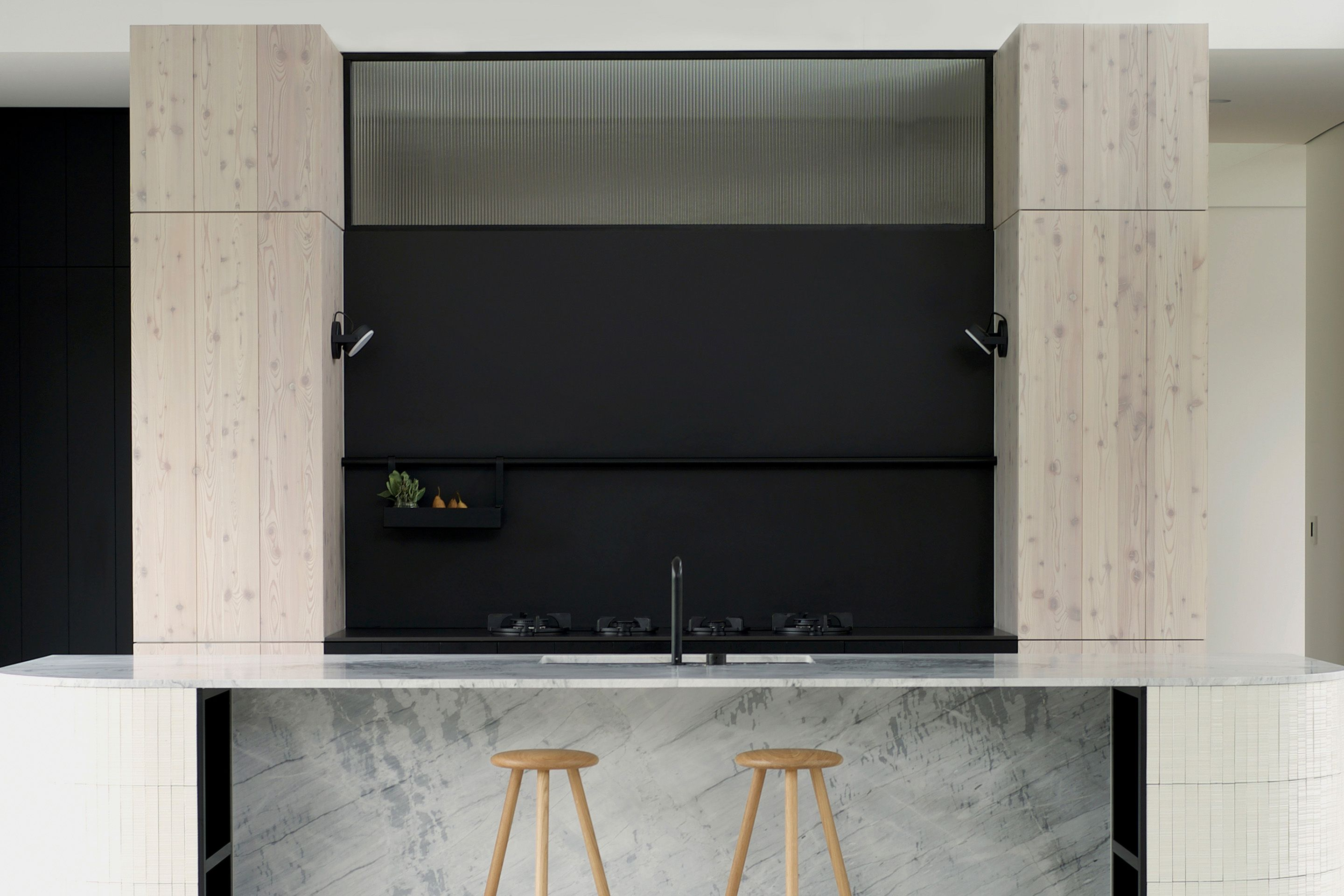 Old Oaks — Melbourne, Australia. Monocle sconce, matte black