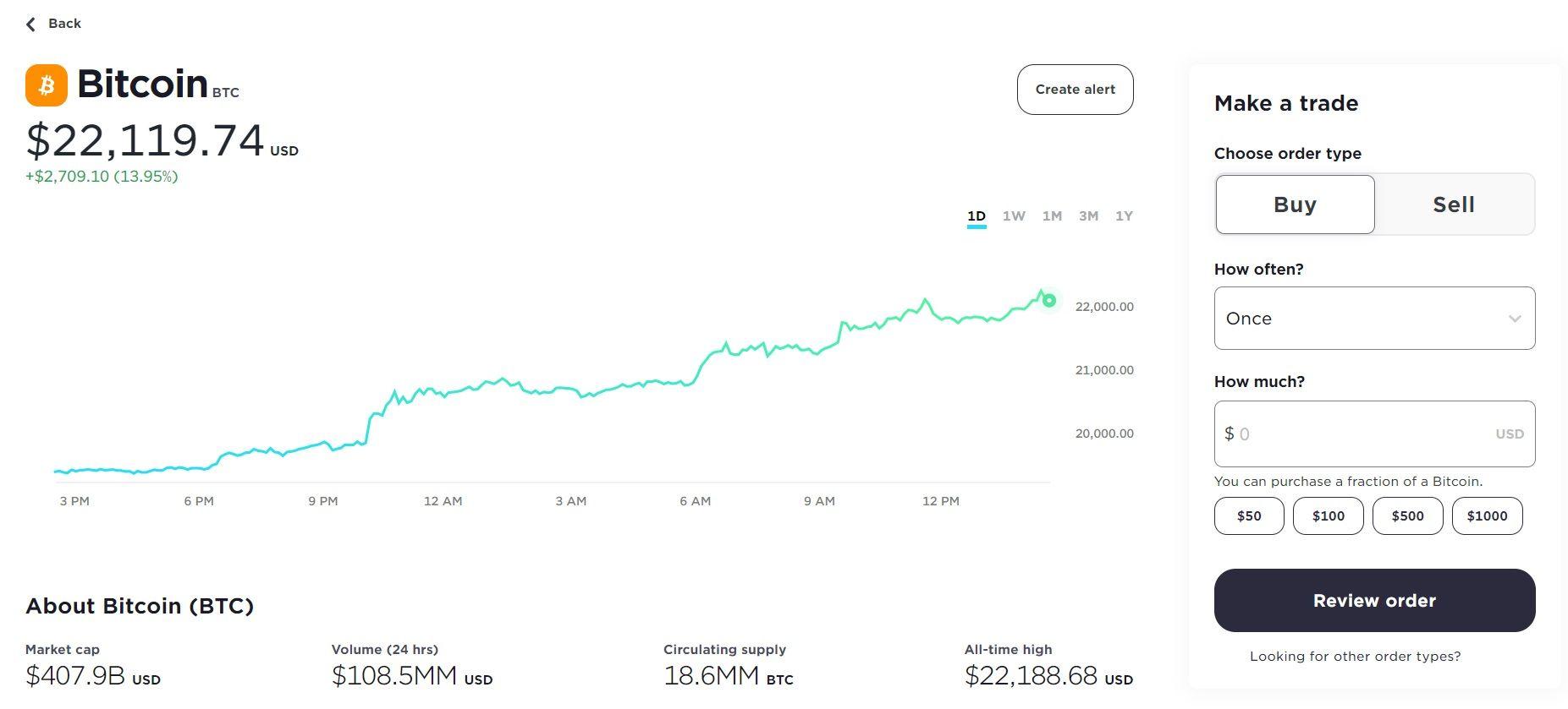 buying bitcoin with gemini