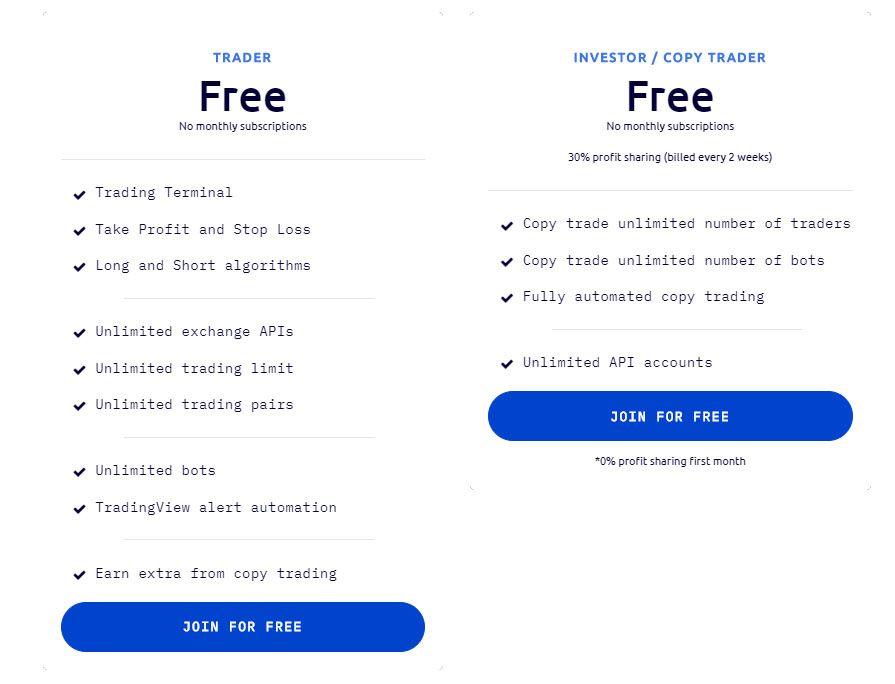 wunderbit trading fees