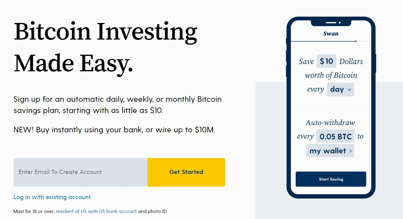 swan bitcoin website