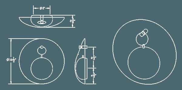 FIBER SCONCE DIAGRAM