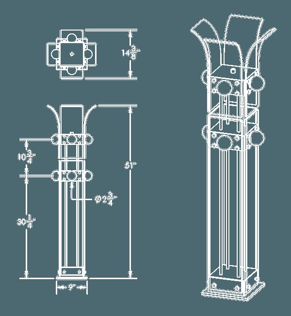 PALM FLOOR LAMP DIAGRAM