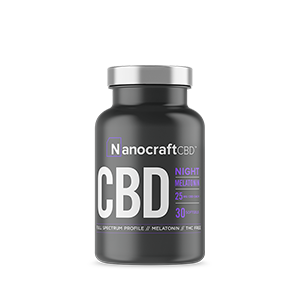 nanocraft cbd tm broad spectrum cbd oil softgel capsules with melatonin