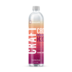 craft h20 cbd energy water black cherry