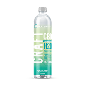craft h20 cbd recovery water cucumber kiwi