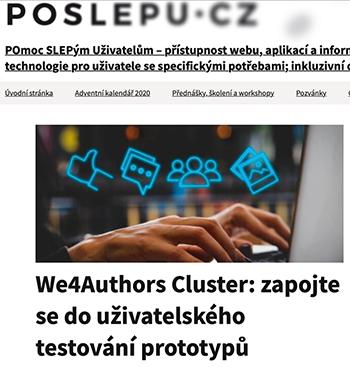 Screenshot of the Czech accessibility expert