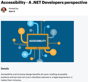 A banner for Accessibility - A .Net Developers perspective