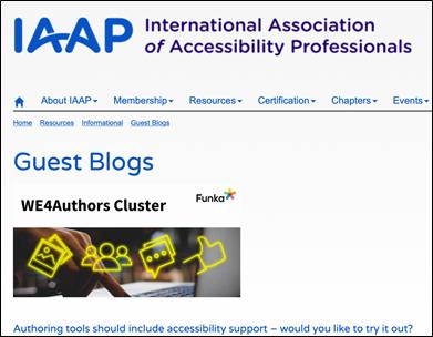 Blogpost on IAAP's global website