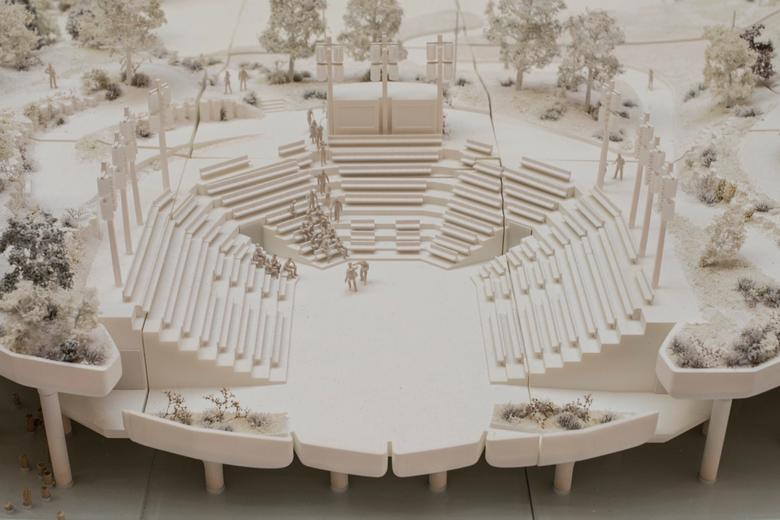 Model of the amphitheater.