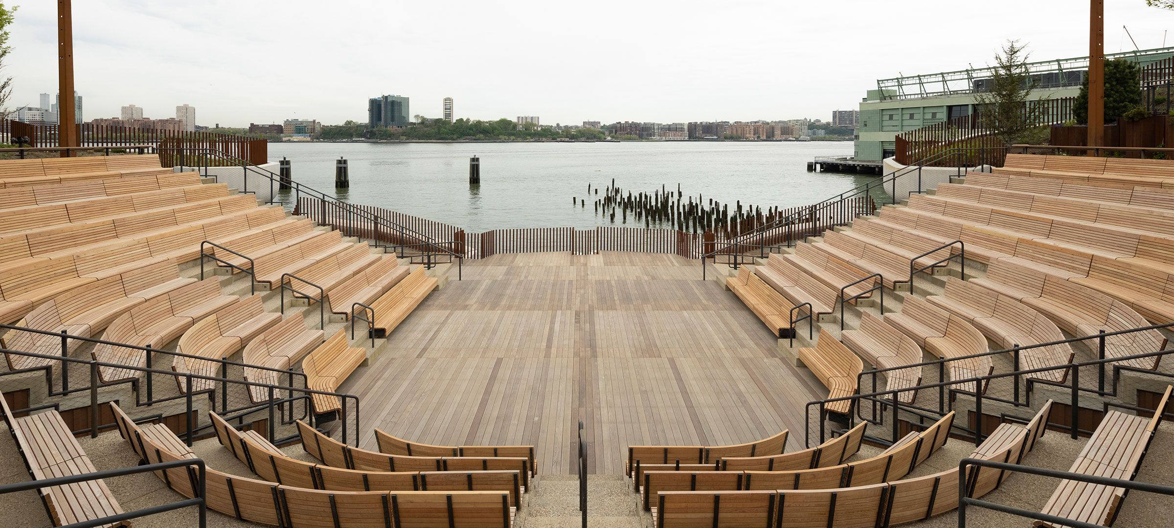 View of The Amph and its seating facing the Hudson River