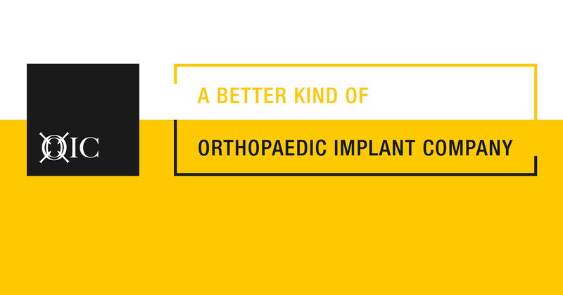 THE ORTHOPAEDIC IMPLANT COMPANY CELEBRATES TEN YEARS OF UNCONVENTIONAL ORTHOPAEDIC OPERATIONS