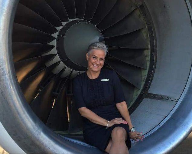 Hekla Aðalsteinsdóttir flugfreyja hjá Icelandair