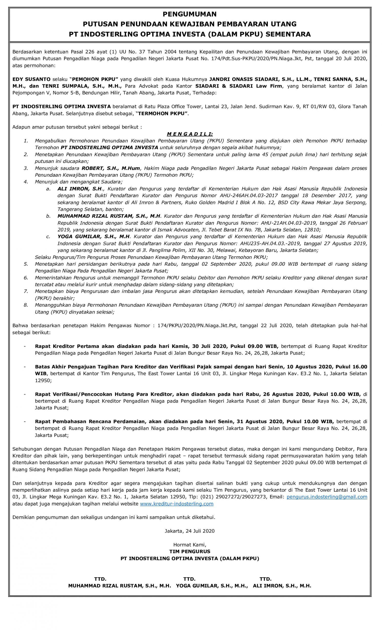 iklan pengumuman keputusan persidangan 3