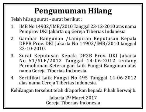 Iklan pengumuman BPN 1