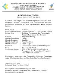iklan pengumuman tender perusahaan 4