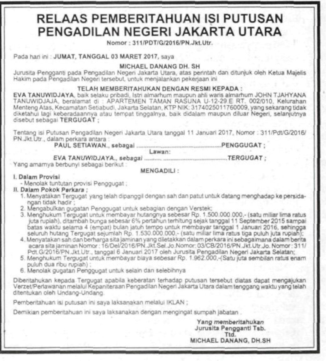 iklan pengumuman keputusan persidangan 1