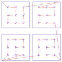 Merge By Part option checked ✓: Each Square is cut after its circles have been pocketed.