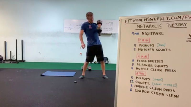 A screenshot from a workout that has been recorded.