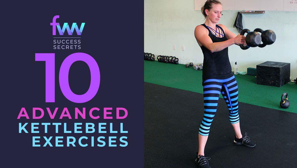 Learn 10 advanced kettlebell exercises for your next gym session.