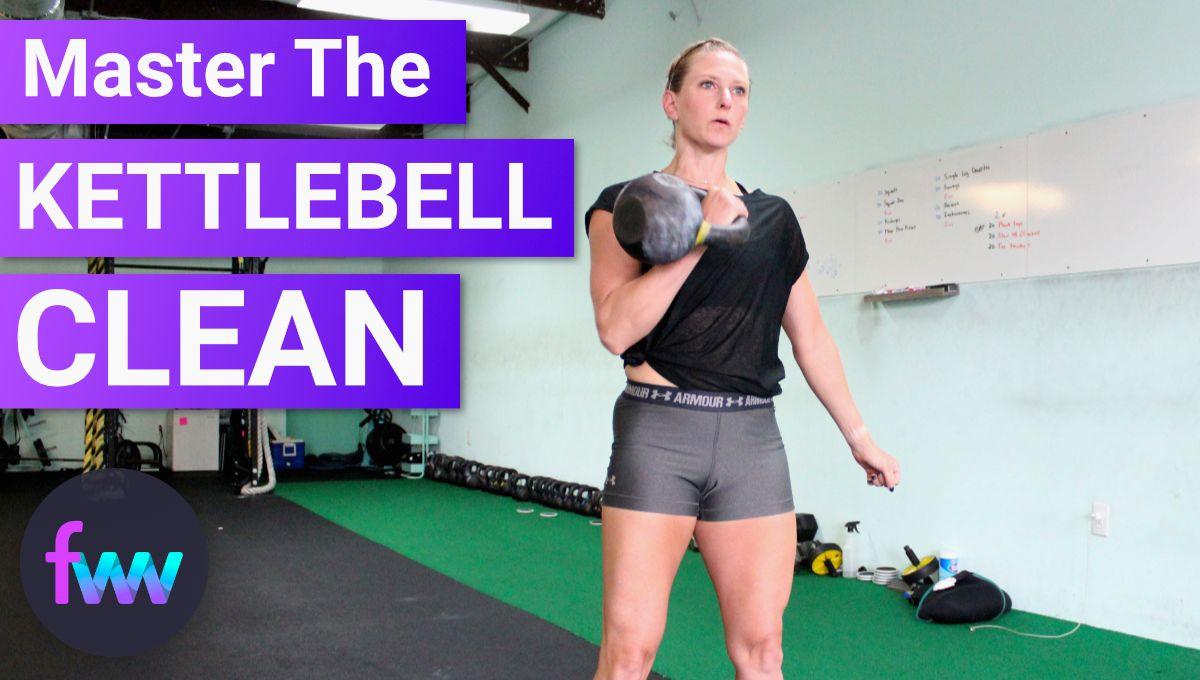 Kindal cleaning a kettlebell
