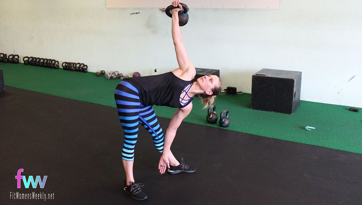 Pop your hip out. Keep your core tight. And ride your leg down. This is a great core exercise.