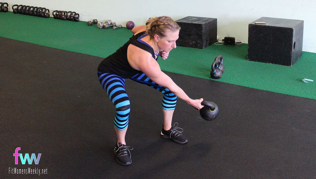 The bottom of a lateral swing is more of a squat. This sets up the power position.