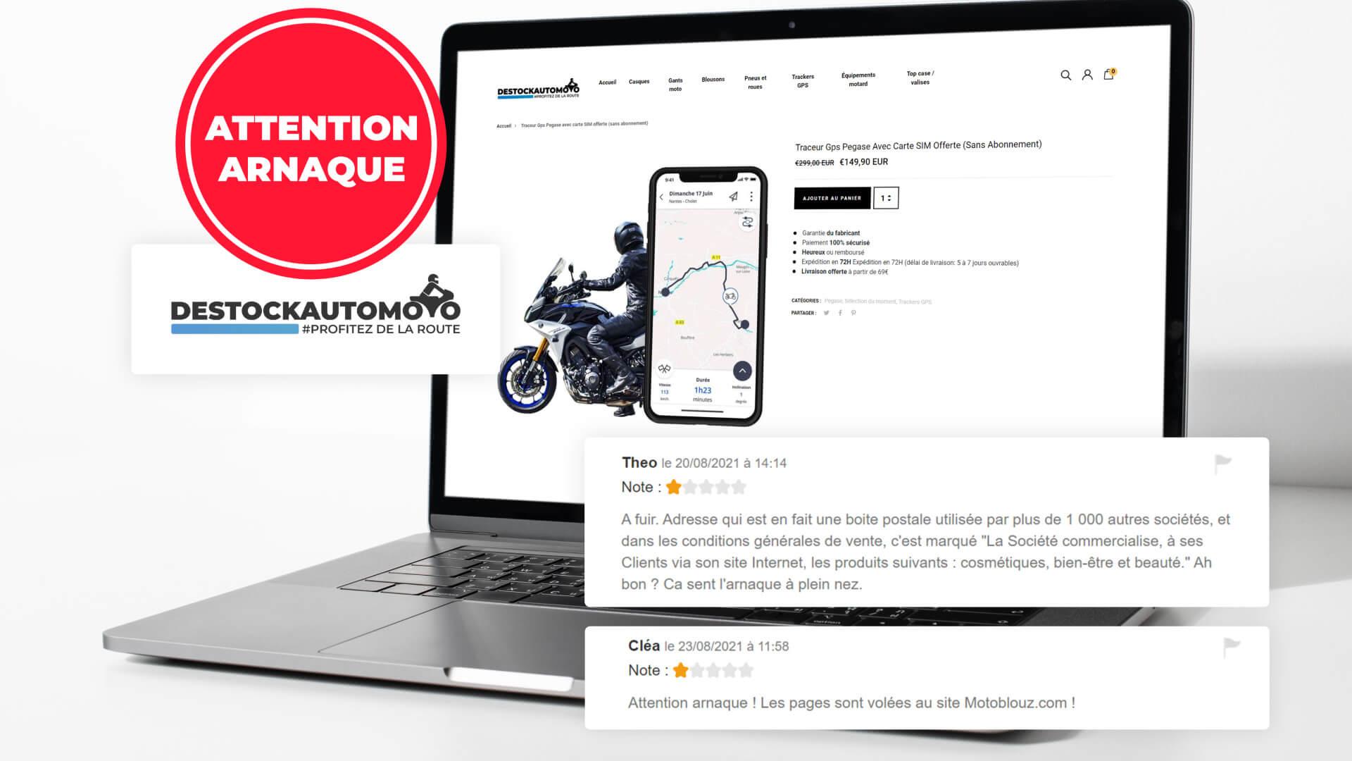 Le site DestockAutoMoto.com est une escroquerie