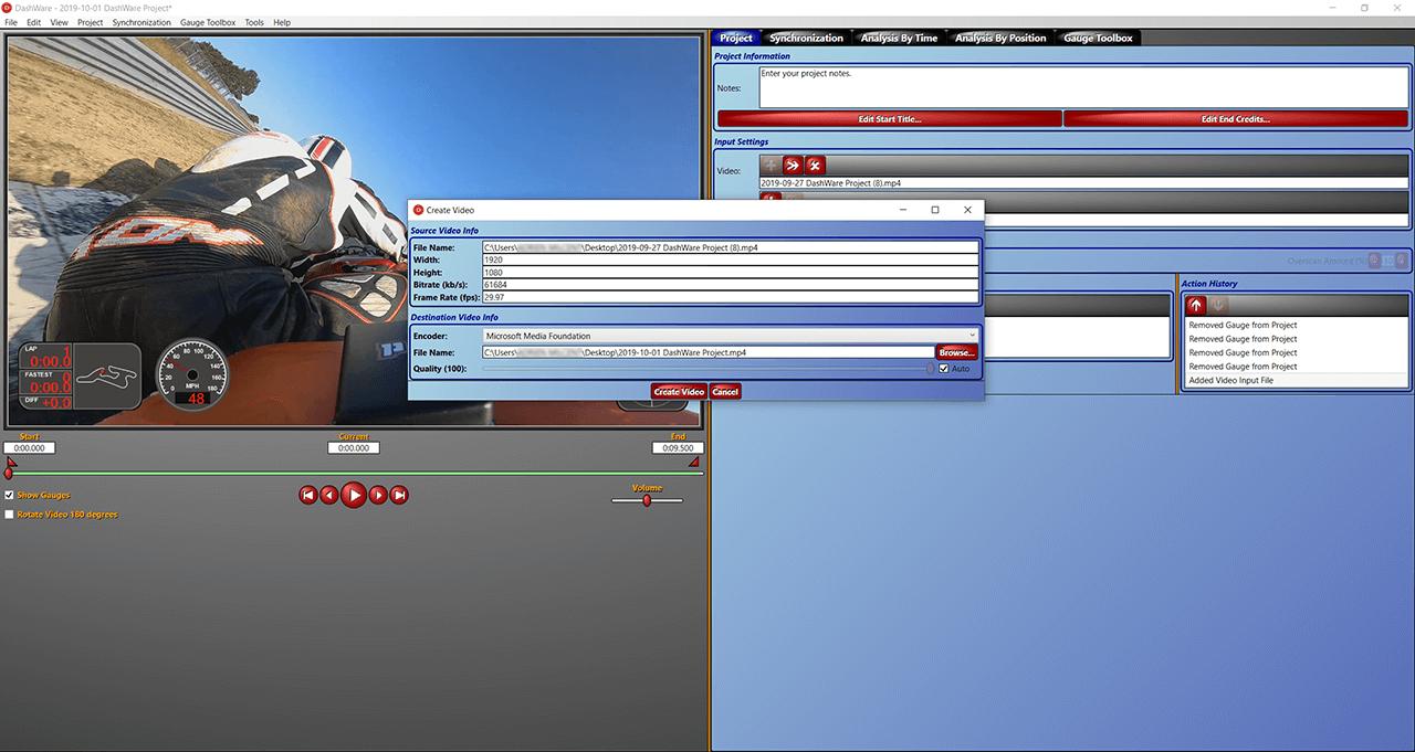 export video dashware