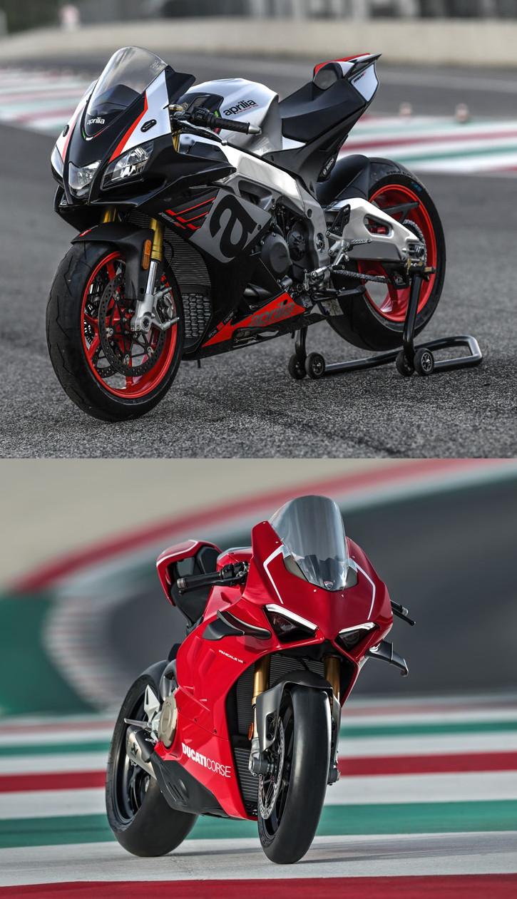 Aprilia et Ducati