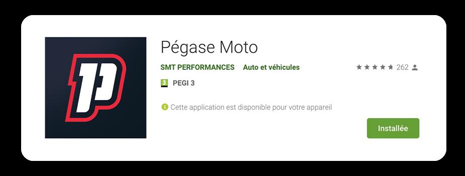 Pégase Moto score 4,7 sur 5 avec 261 avis Google App Store
