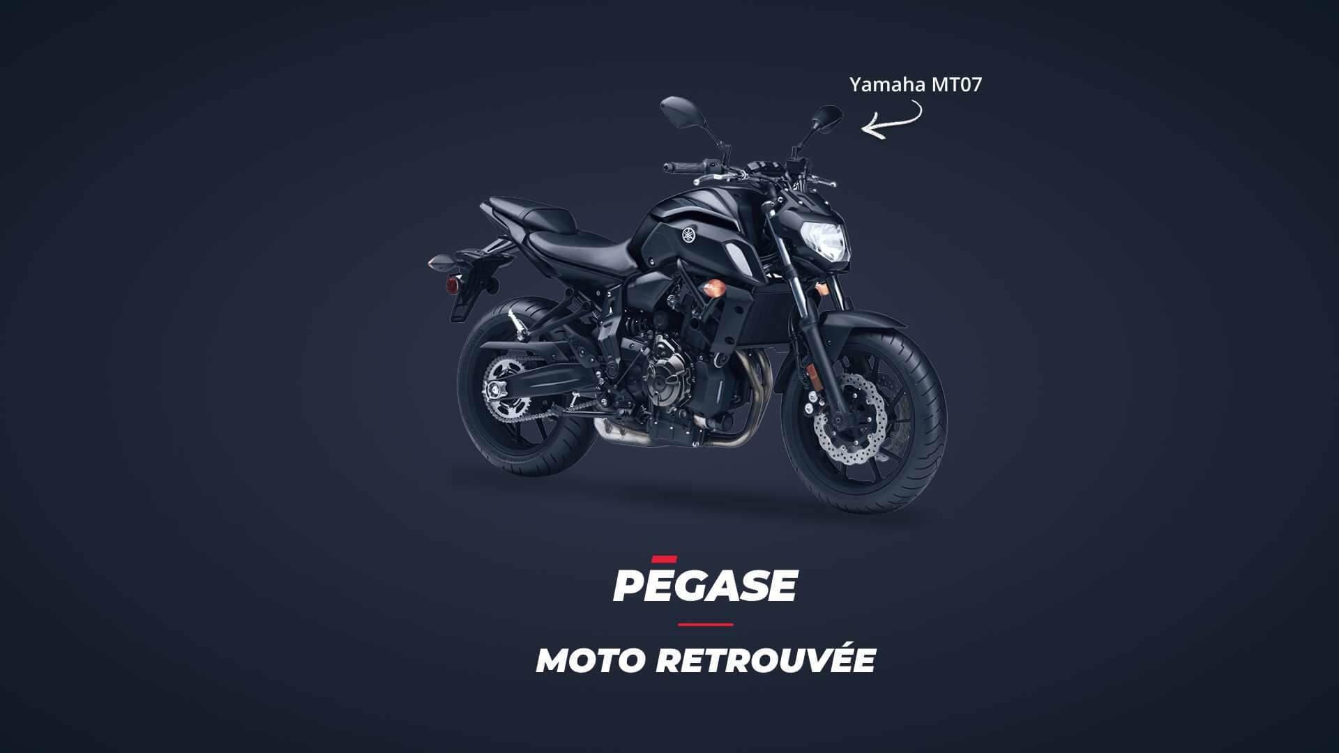 Yamaha Mt070 retrouvée grâce à Pégase Moto