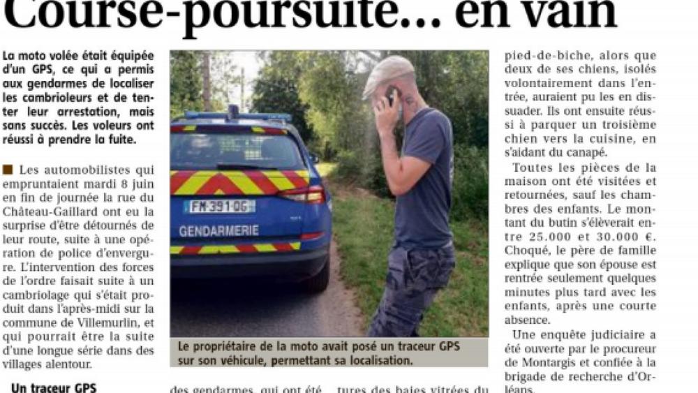 Wanneer een motor GPS tracker de politie kan waarschuwen voor een inbraak