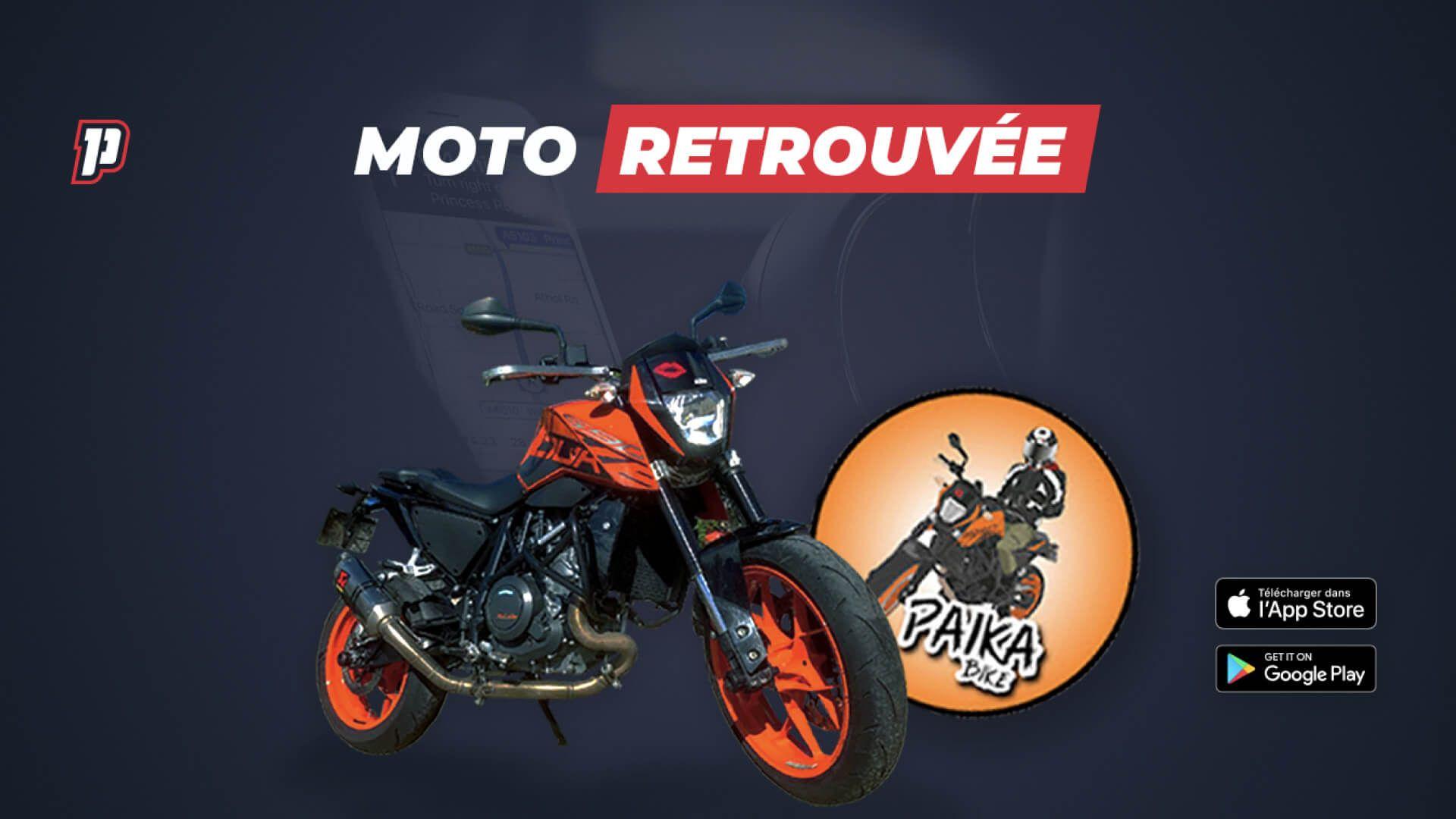 Moto Paika Bike retrouvée