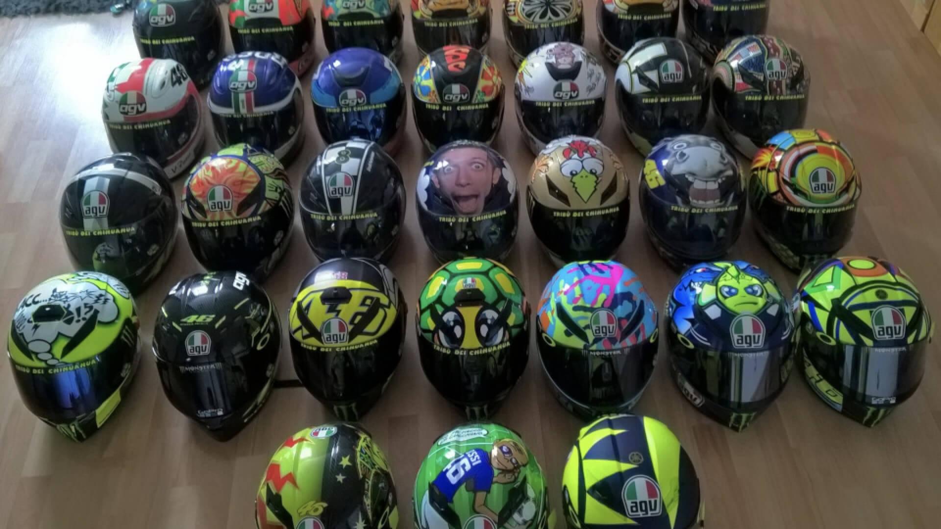 Collection d'un fan Valentino Rossi