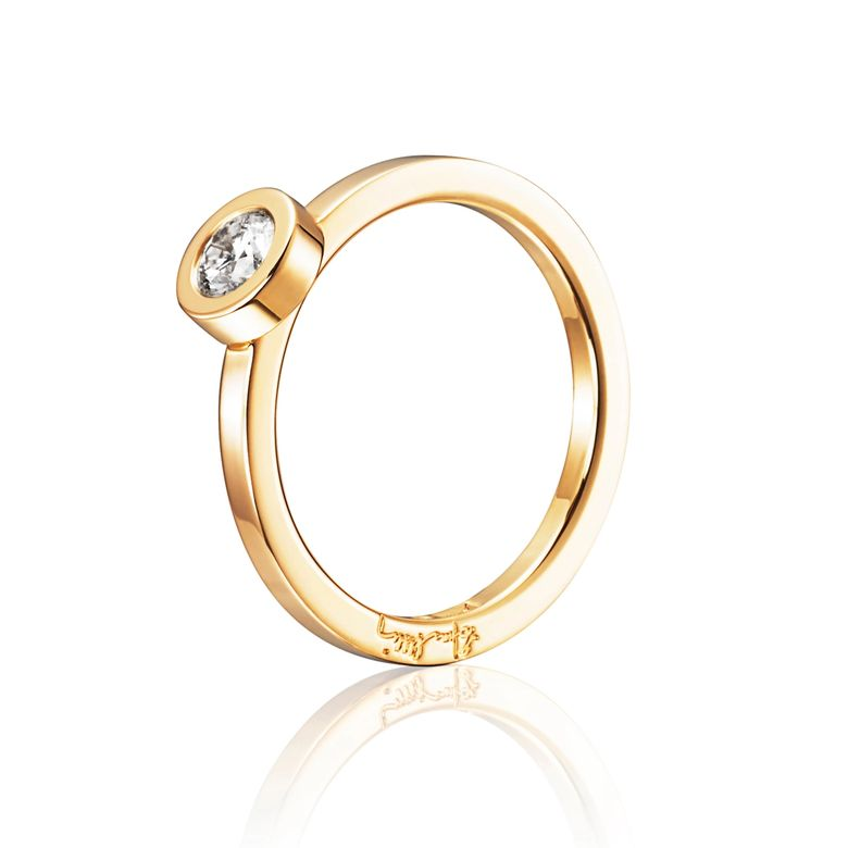 THE WEDDING THIN RING 0.30 CT