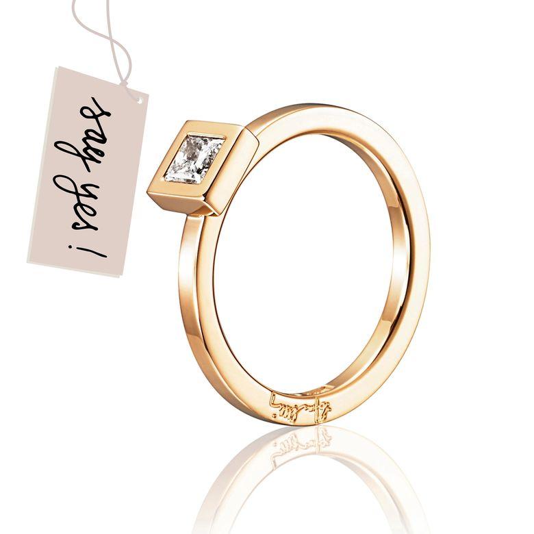 PRINCESS WEDDING THIN RING 0.30 CT