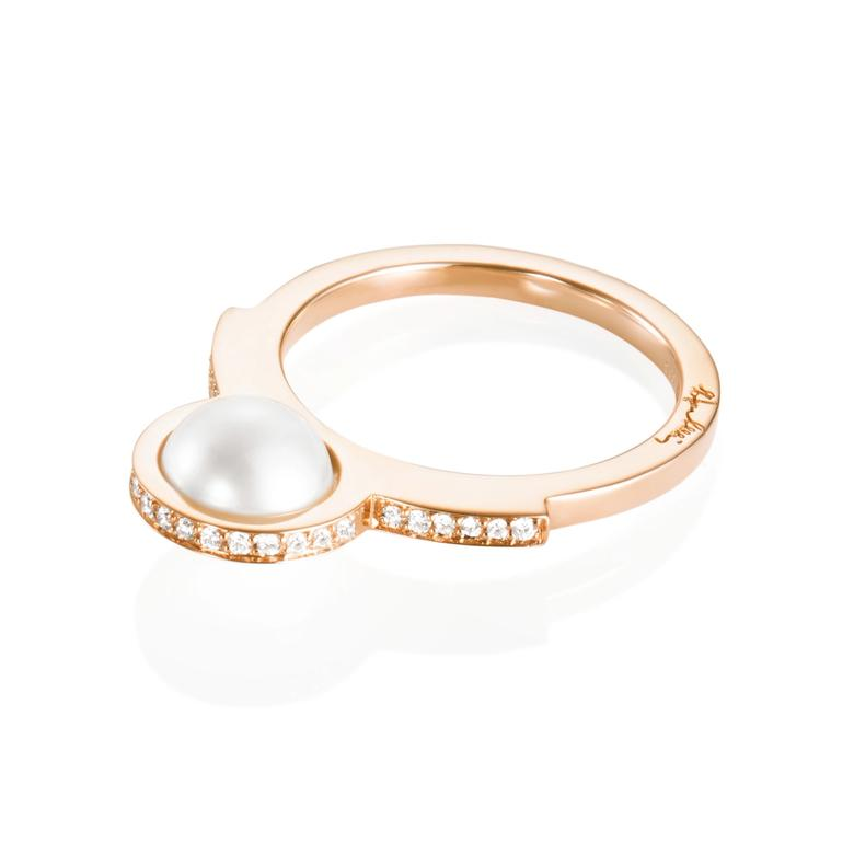 DAY PEARL & STARS RING