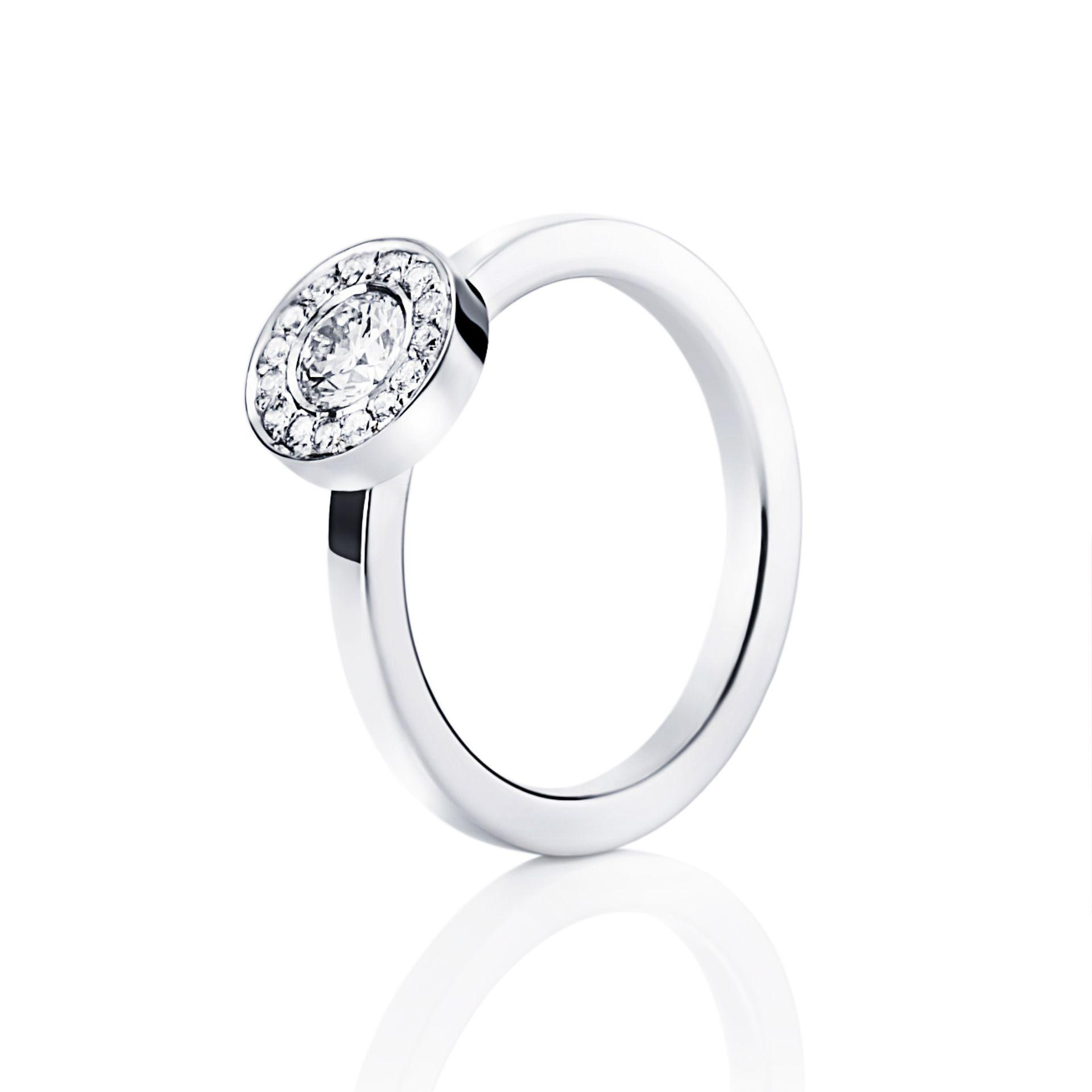 WEDDING & STARS RING 0.40 CT