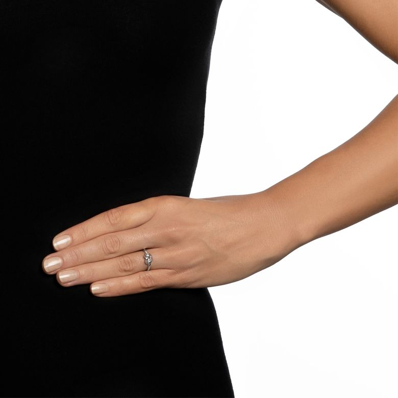 LOVE KNOT RING - SILVER
