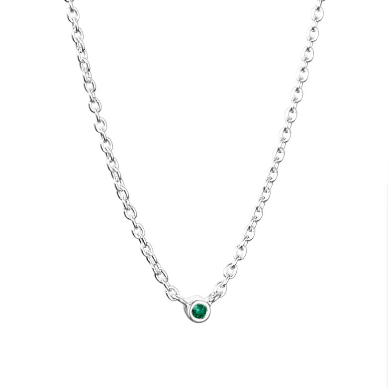 MICRO BLINK NECKLACE - GREEN EMERALD